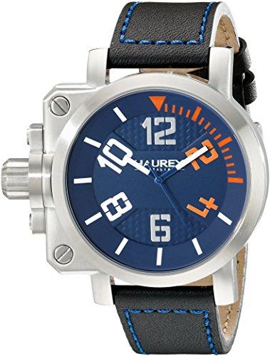 HAUREX ITALY pour homme 6A508uon Pistolet à affichage analogique à quartz Black Watch
