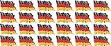 Mini Aufkleber Set - Pack wehend - 33x20mm - selbstklebender Sticker - Fahne - Germany - Deutschland - Flagge / Banner / Standarte fürs Auto, Büro, zu Hause und die Schule - 24 Stück