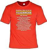 witziges Sprüche T - Shirt Anzeichen, dass Du bei der