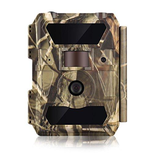 WingHome Wildkamera Fotofalle FHD 1080P 12MP No Glow Nachtsicht 20M Überwachungskamera mit bewegungsmelder LCD Display Wasserdichte für Aussen Dorf Gartens Fotofalle