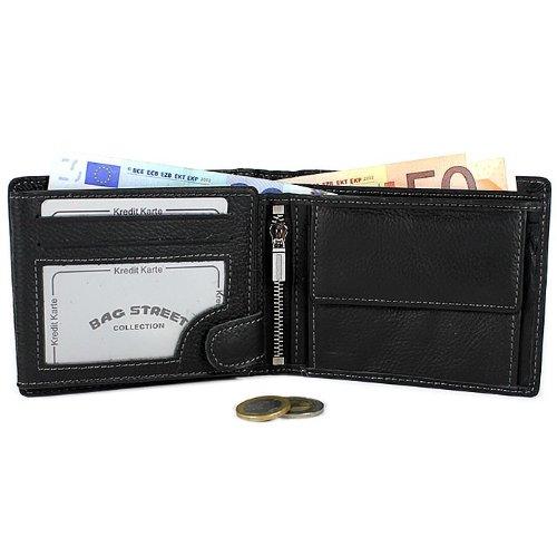 Herren Geldbörse Geldbeutel Portemonnaie Leder WILD
