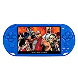 GOZAR X9 Ricaricabile 5,0 Pollice 8G Handheld Retro Console di Gioco Video Lettore Mp3 Fotocamera - Blu