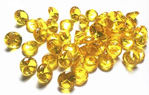 liying Acryl-Diamanten, 0,8 cm, 100 Stück, Acryl-Kunststoff, rund, Tischstreuer, Konfetti, Diamanten für Vasen Füller, Kunst und Handwerk, Hochzeitsdekoration Gold (Filler Vase Gold)