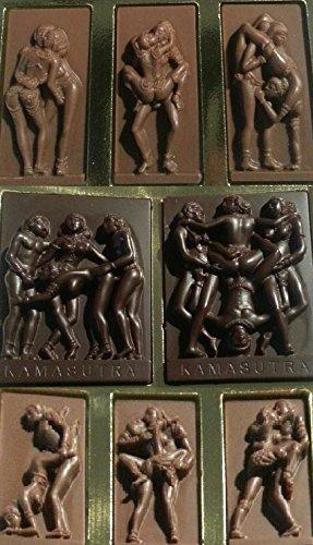 12#0111919 Schokolade Kamasutra, Valentinstag, Erotik, Vollmilch/Zartbitter, Geschenk, Erotische Schokolade