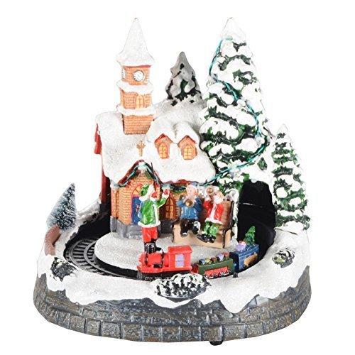 Weihnachtsdorf mit Licht und Musik Weihnachtsdeko Weihnachten Dekoration Musik Dirigent