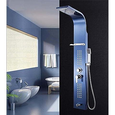 Kiss★ acero inoxidable 304 ducha panel ducha controlados cinco set , sapphire blue