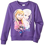 Disney Frozen Anna & Elsa with Heart Purple Pullover Sweater | 5/6