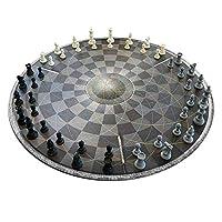 Monsterzeug-DREI-Personen-Schach-Rundes-Schachbrett-fr-DREI-Spieler-Dreier-Schach-Geschenke-fr-Schachspieler-Originelle-Brettspiele