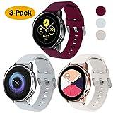 XIMU Compatibile con Samsung Galaxy Watch Active Cinturini di Ricambio 40 mm/42mm,Cinturino per Samsung Active, Cinturino Regolabile con Cinturino (S(6-7.5in), Grigio Chiaro, Bordeaux, Albicocca)