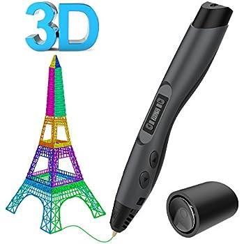 3D Drucker Stift - Aerb DIY Scribbler 3D Stereo Scopic Druck Stift mit LCD-Bildschirm, intelligente Temperaturregelung, kompatibel mit ABS und Pla Filament 1,75 mm, Anzug für Kinder, Erwachsene und Künstler