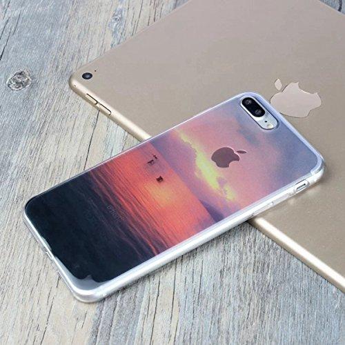 MOONCASE iPhone 7 Plus Coque, Ultra Mince Motif Etui TPU Silicone Antichoc Housse Case pour iPhone 7 Plus (Paysage 07) Paysage 10