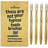 Bambou Brosse à dents W/15degrés d'angle et doux sans BPA Poils en nylon–100% bio et biodégradable en bois...