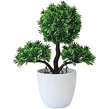 Simulation Topfpflanzen Gast-Gruß Kiefer Bonsai 26 * 9CM,microlandschaft Hotel, Home Office Dekoration grün