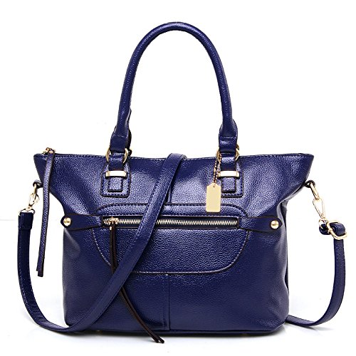 Mefly Die neue Mode Trend von Pu-Motorrad Tasche Tasche Leder Frauen Schulter blue