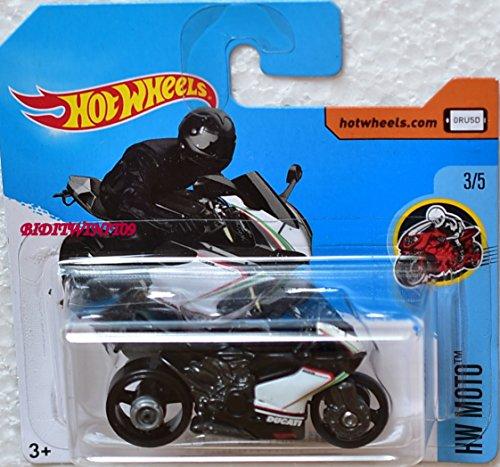 2017 Hot Wheels HW Moto Ducati 1199 Panigale Motorcycle White 187/365 (Short Card)