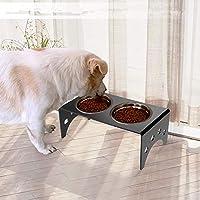 Zerone - Soporte Doble para Comedor, acrílico Elevado, para Comida de Gatos y Cuencos