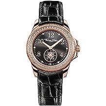 Thomas Sabo Damen-Armbanduhr Glam Chic Rosegold Schwarz Analog Quarz