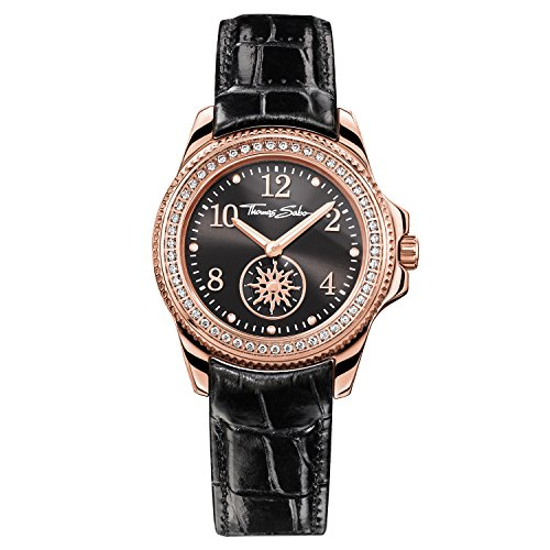 Thomas Sabo Women's Watch Glam Chic Rose Gold Black Analogue Quartz