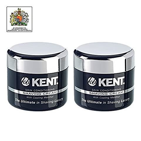 Kent Skin Conditioning Shaving Cream, 2 x 125ml Tubs by Kent