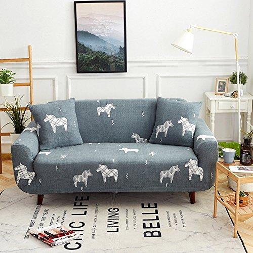 chenyu - Funda de sofá Antideslizante a Prueba de Polvo Suave Tejido elástico 1 2 3 4 plazas Protector de sofá Antideslizante elástico Tejido de poliéster para Mascota Perro Protector Durable