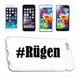Handyhülle Samsung S3 Mini Galaxy Hashtag ... #Rügen ... im Social Network Design Hardcase Schutzhülle Handycover Smart Cover für Samsung Galaxy Smartphone ... in Weiß ... Schlank und schön, das ist unser HardCase. Das Case wird mit einem Klick auf deinem Smartphone befestigt