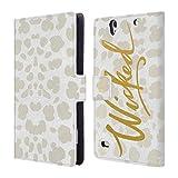 Head Case Designs Böse Golden Brieftasche Handyhülle aus