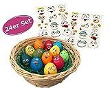 itsisa Eier Tattoos / Aufkleber Hoppsi 24er Set - Osterei, eierfärben, Osterdeko, Eierfarbe, Eier Sticker