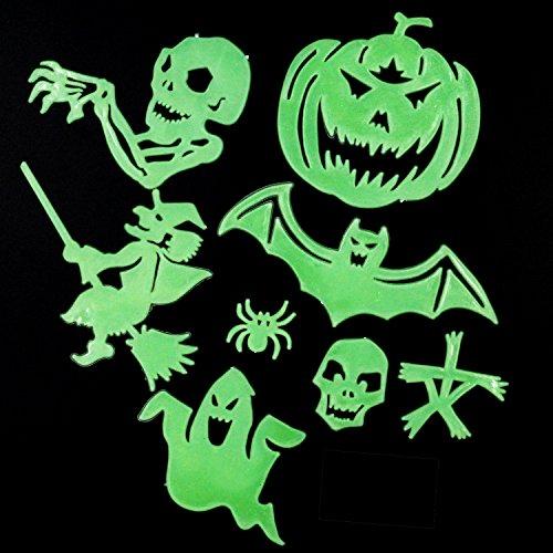 bstklebenden fluoreszierenden Halloween Wandsticker Leuchten im Dunkeln (Im Dunkeln Leuchten Die Kürbisse)