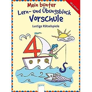 Lustige Rätselspiele: Mein bunter Lern- und Übungsblock Vorschule