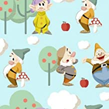 Snow White siete enanitos tela SC022–0,5Metre–Disney tela de tela–100% algodón
