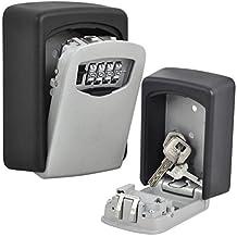 nuzamas Key Lock caja grande caja de almacenamiento, Capacidad para hasta 5teclas para exterior llave maestra con estuche estanco al agua montado en la pared para hogares, Business, madres, alquiler propiedades teclas Pick Up punto