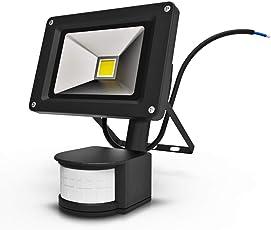 Anten LED Sensor Strahler 10W mit Bewegungsmelder, 1000LM superhell LED Fluter IP65 wasserdicht Außenstrahler Flutlichtstrahler Scheinwerfer Licht 6000K Kaltweiß