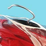 6 Wasserabweisende Kleidersäcke - Transparent mit Weißem Saum - 150cm - Hangerworld