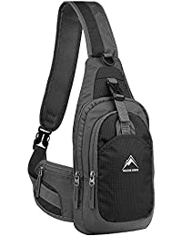 MALEDEN Unbalance Backpack, Anti-scratch Waterproof Sling Bag Crossboby Shoulder Pack for Outdoor Cycling, Running, Hiking, Climbing and Travel