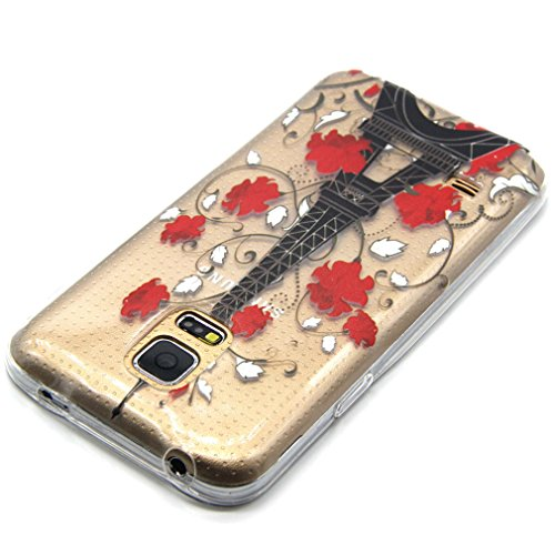 A9H iPhone 5 5S SE Hülle Case Cover Painting TPU Crystal Clear Tasche Handyhülle Schutzhülle 01HUA 15HUA
