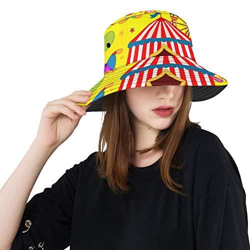 Plosds Magic Clown Happy Funny Sommer Unisex Angeln Sun Top Eimer Hüte Für Kinder Jugendliche Frauen Und Männer Mit Packable Fisherman Cap Für Outdoor Baseball Sport Picknick -
