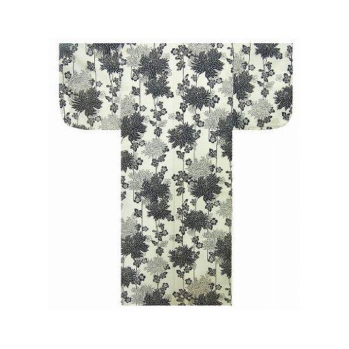 Autenticos Yukata Samurai / Frescos y Atractivos Kimono- Crisantemo Blanco #992