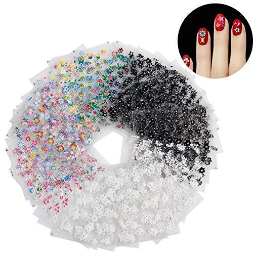 Scopri offerta per Adesivi Unghie, Diealles 50 Fogli 3D Design Nail Art Stickers 3D Design Autoadesivi Tip Nail Art Adesivi Decalcomanie Unghie Decorazioni Consigli
