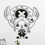 yaoxingfu Creativo Arte de Pared De Pegatinas de Pared Habitaciones para Niños Anime Japonés de One Piece Chopper Decoración del Hogar Pegatinas de Pared Sala de Estar45 x 42 cm
