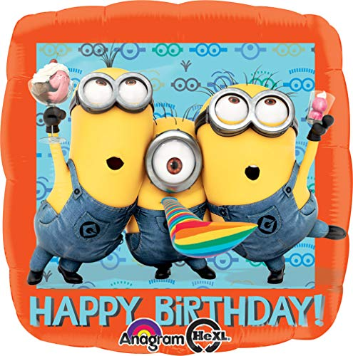 Anagram International HX Despicable Me Happy Birthday Party Luftballons, multicolor