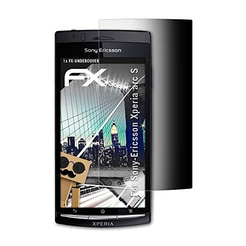 atFolix Blickschutzfilter kompatibel mit Sony-Ericsson Xperia arc S Blickschutzfolie, 4-Wege Sichtschutz FX Schutzfolie