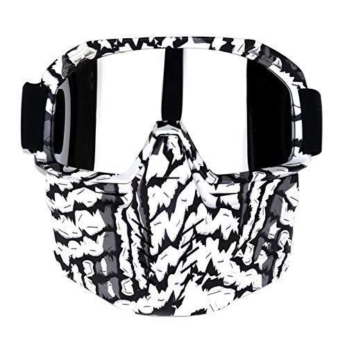 Goyajun Harley Style Motorradbrille - Anti Fog Abnehmbare Maske Motorrad Brille Windproof Motocross Roller Brillen für Männer Frauen ()