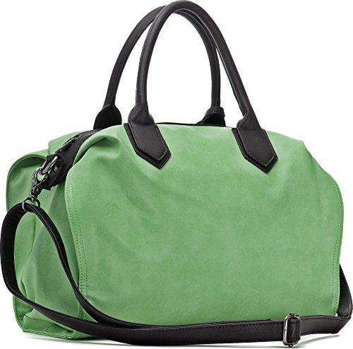 MIYA BLOOM, Borse da donna, Borse, Borse a tracolla, Borse Crossover, 36 x 30,5 x 10,5 cm (L x A x P), Colore: Giallo verde chiaro