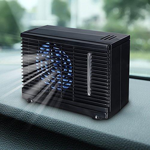 Ventilador portátil de refrigeración de aire 12 V para coche, coche, furgoneta, velocidad ajustable, silencioso, aire acondicionado para coche, casa, aire frío