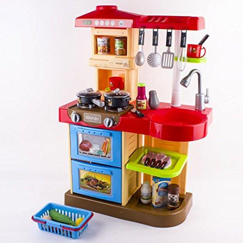 Kc2 r deao cuisine jouet avec plusieurs accessoires inclus rouge jouet discount for Cuisine equipee avec electromenager inclus
