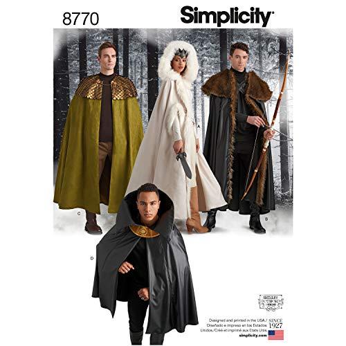 Simplicity Creative Patterns Schnittmuster 8770 Unisex Kostümumütze, Einheitsgröße