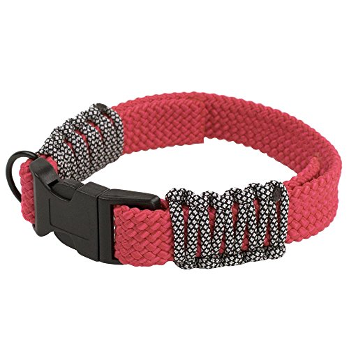 PARACORD PLANET Flat Braid Rope DIY Paracord Dog Collar Kits - Choose from Red, Black, Neon Pink, and Tan/Camo - DIY Dog Collars Make Your Furry Friend Stand Out (Camo Fliesen)