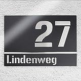 Metzler-Trade Hausnummer aus Edelstahl