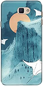 The Racoon Lean printed designer hard back mobile phone case cover for Samsung Galaxy J7 Prime. (When Earth)