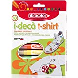 Fibracolor I-Deco T-Shirt Color 10 - Fine NIB Sketch Pens With Washable Ink